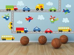 Truck Decal - Name Decal - Construction Wall Decal - Plane Decal- Transportation Decal - Boy Wall Decal - Nursery Wall Decal - Wall Decals Kids Wall Decals, Nursery Wall Decals, Wall Stickers, Nursery Décor, Transportation Theme, Truck Bed, Dump Truck, Nursery Themes, Wall Colors