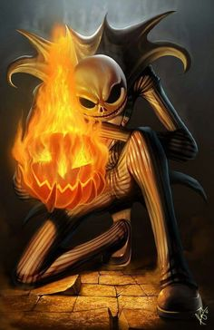 Jacks flamming pumpkin