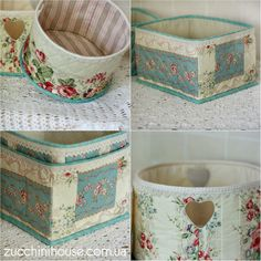 Sewing Crafts, Sewing Projects, Fabric Basket Tutorial, Basket Organization, Pretty Box, Quilted Bag, Fabric Dolls, Handmade Bags, Beautiful Bags