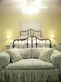 Clients beautiful setting and bed. circa 1880.