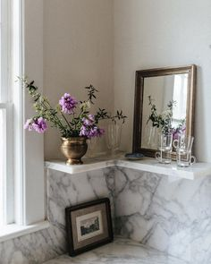 """Carley Page Summers on Instagram: """"My arrangement from the yard with this antique flower vessel. This week has been a doozy. Ups and downs. Tears and joy. But today I was…"""" Home Kitchens, Oversized Mirror, Mid-century Modern, Indoor, Photo And Video, Antiques, Interior, Inspiration, Furniture"""