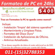 formateo de pc windows reinstalacion sistema serviciotecnicodepc.com.ar