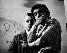 "Martin Scorsese and Robert De Niro on the set of ""Taxi Driver"" 1976"