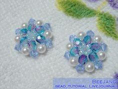 Free bead Flower Motif #3 can be used to make bracelet, earrings etc