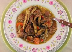 Okra with lamb