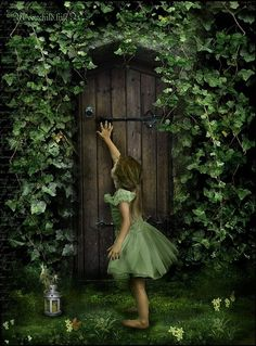 """The Secret Garden was what Mary called it. She liked the name, and she liked still more the feeling ~Frances Hodgson Burnett, """"The Secret Garden"""" The Secret Garden, Secret Gardens, Secret House, Go Green, Green And Brown, Green Colors, Fairy Land, Fairy Tales, Foto Fantasy"""