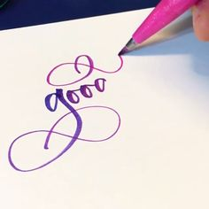 These beautiful blending handwriting ideas will help you get started! Calligraphy Fonts Alphabet, How To Write Calligraphy, Calligraphy Pens, Typography, Calligraphy Tutorial, Hand Lettering Tutorial, Bullet Journal Font, Bullet Journal Ideas Pages, Handwriting Ideas