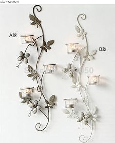 Decoration maison pas cher on pinterest for Decoration fer forge mural