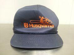 Vintage Husqvarna Chainsaw Blue Orange by CoolVintageStudio
