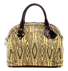 Rebecca Minkoff New Rm Collection The Collette Tribal Printed Leather Black And Yellow Satchel. Save 51% on the Rebecca Minkoff New Rm Collection The Collette Tribal Printed Leather Black And Yellow Satchel! This satchel is a top 10 member favorite on Tradesy. See how much you can save