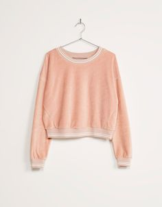 Velvet sweatshirt - BSK teen - Bershka United Kingdom