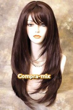 Ideas For Style Hair With Bangs Wigs – Hair is art Haircuts For Long Hair With Layers, Haircuts Straight Hair, Haircuts For Medium Hair, Long Layered Haircuts, Long Hair With Bangs, Long Hair Cuts, Hairstyles With Bangs, Medium Hair Styles, Long Hair Styles