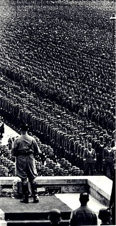 Adolf Hitler addresses members of The Third Reich during a Nuremberg rally, late… World History, World War Ii, Ww2 History, Nuremberg Rally, German Soldiers Ww2, German Army, German People, Germany Ww2, The Third Reich