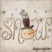 Snow 1 Clip Art Single