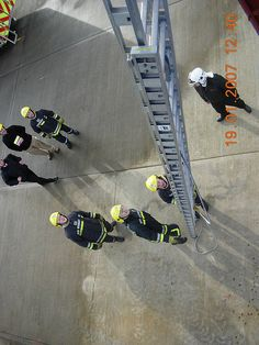 Looking down from 3rd floor level of Drill Tower - Dublin Airport Fire Service | Flickr - Photo Sharing!