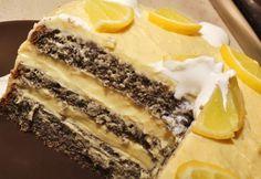 Máktorta citromkrémmel Tart Recipes, My Recipes, Dessert Recipes, Recipies, Poppy Cake, Hungarian Recipes, Cakes And More, Food To Make, Healthy Snacks