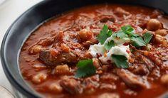Spicy lamb soup