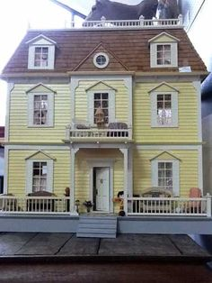 Large, Vintage Custom Dollhouse w/ Furniture  (Appraised at over 1000) Priced now at 500 at the Brass Armadillo (816) 847-5260...They ship stuff, too!