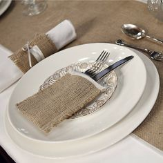 Country and beautiful - Wedding cutlery (silverware) www.italiandestinationweddings.com