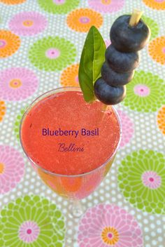 Blueberry Basil Bellini Recipe perfect signature cocktail for Brunch # ...