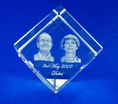 2D & 3D Laser Engraving in Precious Crystal