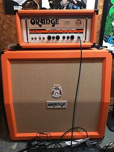 The Orange is a twin channel guitar amp head that grinds up with the best of them but still cleans up nicely. Guitar Shop, Cool Guitar, Orange Amplifiers, Guitar Logo, Guitar Vector, Music Down, Valve Amplifier, Bass Guitar Lessons, Channel Orange
