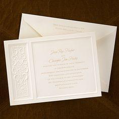 Regal Touch Invitation - Wedding Invitation Ideas - Wedding Invites - Wedding Invitations - View a Proof Online - #weddings #wedding #invitations
