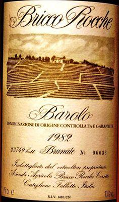 """Barolo """"Bricco Rocche"""" Cru Brunate 1982"""