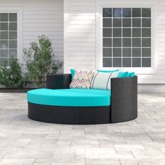Sol 72 Outdoor Freeport Patio Daybed with Cushions Patio Loveseat, Outdoor Sectional, Clearance Outdoor Furniture, Outdoor Furniture Sets, Daybed Sets, Outdoor Spaces, Outdoor Decor, Corner Chair, Rustic Wall Decor