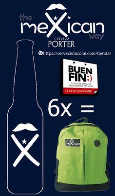 Cerveza meXican en el buen fin       En este#ElBuenFinCerveza meXican te regala una mochila por un SixPack de compra¡LLEVA LA TUYA!#cerveceriacoral#cervezaartesanal   #CervezameXican  #CervezameXican Coral, Packing, Coffee, Drinks, Bags, Backpack, Bag Packaging, Kaffee, Drinking