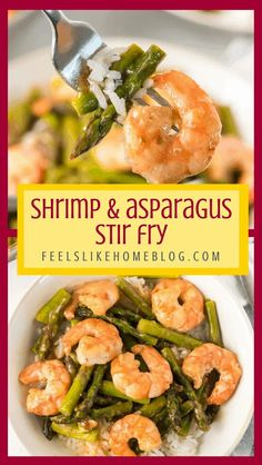 This healthy, simple & easy shrimp and asparagus stir fry has a low carb and gluten free lemon sauce. This is the best paleo and keto recipe if you don't use rice. Very tasty and delicious. #comfortfood #bariatriceating #gastricsleeve #gastricbypass #glutenfreerecipes #gluten-free #weeknightmeals #whatsfordinner #30minutemeals Asparagus Stir Fry, Shrimp Stir Fry, Shrimp And Asparagus, Asparagus Recipe, Quick Healthy Meals, Healthy Dishes, Tasty Dishes, Healthy Recipes
