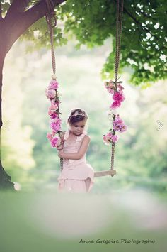 whats better than a flower covered swing??