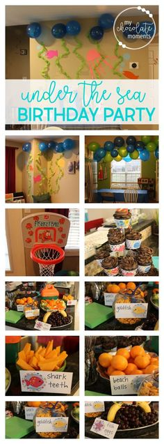 under the sea fish themed birthday party