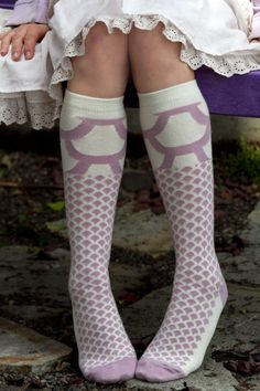Lola Knee High - Inspired by scale armor, perfect for any daring knight in knee highs. Made in the USA.