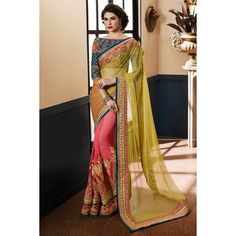 Heavy work sarees online shopping from India. Bridal sarees online shopping with price at best. Indian Bridal Wear, Indian Wedding Outfits, Latest Indian Saree, Indian Sarees, Ethnic Sarees, Pakistani, Net Saree, Georgette Sarees, Bridal Sarees Online