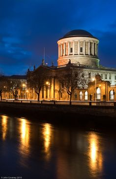 The Four Courts at Dusk