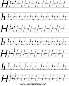 okuloncesiher… english-worksheets-for-pre-school-numbers-and-alphabet.html - Vorschule Spiele Letter Worksheets For Preschool, Writing Practice Worksheets, Numbers Kindergarten, Preschool Writing, Alphabet Worksheets, Kindergarten Worksheets, Handwriting Numbers, Preschool Planner, Penmanship Practice