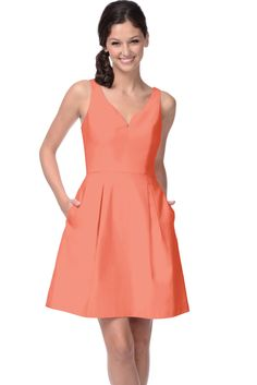 Bridesmaid Dress Coral | fashjourney.com