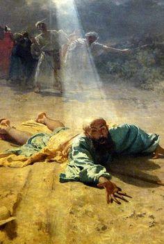 Domenico Morelli, (1826-1901): La conversión de san Pablo.