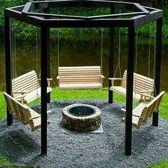 Fire Pit Swing Set for that future awesome backyard. Sets fire pit Make Your Own Beautiful Fire Pit Swing Set