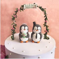 Custom Penguin wedding cake toppers black and by PassionArte, $99.00 - My mom would love this!!