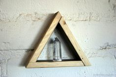 Small Crystal Tower with Triangle Shelf Display by HedonistINC