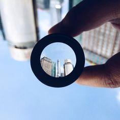 Through my astronomical telescope  带了天文望远镜的镜头逛  #iPhonegraphy #thebund #shanghai #onlyphone #phoneonly #浦东 #上海