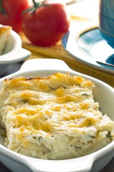 Core Weight Watchers Farmers Breakfast Casserole Recipe with Potatoes, Canadian Bacon, Cheese & Eggs