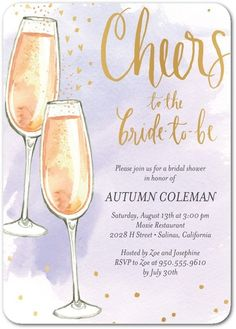 Cheery Fizz - Signature White Textured Bridal Shower Invitations - Bonnie Marcus - Peony - Pink : Front