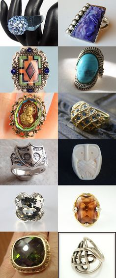 Chunky Bling Ring by Pauline Connors on Etsy--Pinned with TreasuryPin.com