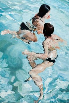Cela me fait un bien fou de regarder ces peintures de l'artiste catalan Josep Moncada Je sens l'été arriver, et l'envie de mer avec elle....