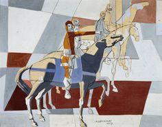 Portal Portinari - Quatro Cavaleiros - 1953 Art And Illustration, Arte Equina, Equine Art, Horse Art, Pablo Picasso, Modernism, Caricature, Contemporary Art, Composition