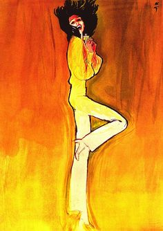 Rene Gruau-Christian Dior Illustration by Rene Gruau for Christian Dior ,1972.
