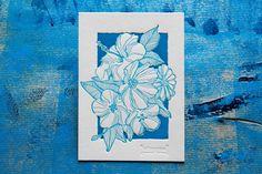 Letterpress -Blumengruß postcard-. Gedruckt auf Gmund Cotton linen cream 600gr. Letterpress, Cotton Linen, Cream, Artwork, Bookbinding, Drawing Hands, Cotton Sheets, Creme Caramel, Work Of Art